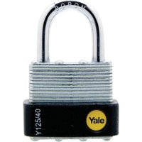 Yale Laminated Steel Weatherpoof Padlock 40mm Standard
