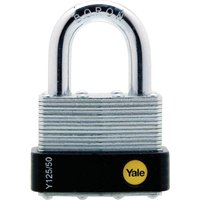Yale Laminated Steel Weatherpoof Padlock 50mm Standard