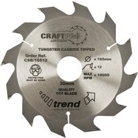 Trend CRAFTPRO Wood Cutting Saw Blade 190mm 12T 30mm