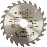 Trend CRAFTPRO Wood Cutting Saw Blade 125mm 24T 20mm