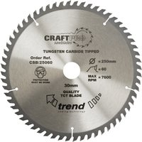 Trend CRAFTPRO Wood Cutting Saw Blade 184mm 58T 30mm