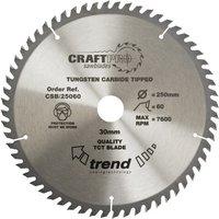 Trend CRAFTPRO Wood Cutting Saw Blade 350mm 64T 30mm