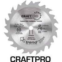 Trend CRAFTPRO Wood Cutting Cordless Saw Blade 150mm 24T 10mm