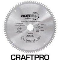 Trend CRAFTPRO Aluminium and Plastic Cutting Saw Blade 260mm 96T 30mm