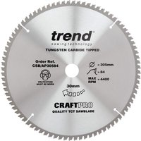 Trend CRAFTPRO Aluminium and Plastic Cutting Saw Blade 305mm 84T 30mm