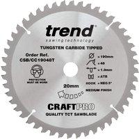 Trend CRAFTPRO Wood Cutting Mitre Saw Blade 210mm 24T 30mm