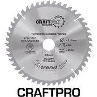 Trend CRAFTPRO Wood Cutting Mitre Saw Blade 210mm 48T 30mm
