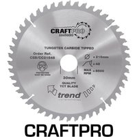 Trend CRAFTPRO Wood Cutting Mitre Saw Blade 190mm 24T 30mm