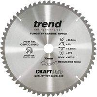 Trend Craft Anti Kickback Thin Kerf Circular Saw Blade 305mm 60T 30mm