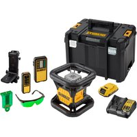 DeWalt DCE079 18V Cordless XR Rotary Green Laser Level Kit 1 x 2ah Li-ion Charger Case