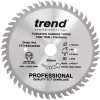 Trend Professional Wood Cutting Saw Blade 165mm 48T 20mm
