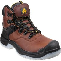 Amblers Mens Safety FS197 Shock Absorbing Waterproof Safety Boots Brown Size 13