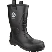 Amblers Mens Safety FS90 Waterproof Pvc Pull On Safety Rigger Boots Black Size 12