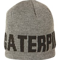 Caterpillar Branded Beanie Cap Grey One Size
