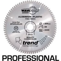 Trend Professional Aluminium and Plastic Cutting Saw Blade 300mm 96T 30mm