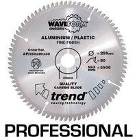 Trend Professional Aluminium and Plastic Cutting Saw Blade 160mm 48T 20mm
