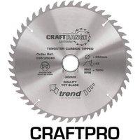 Trend CRAFTPRO Wood Cutting Saw Blade 162mm 48T 20mm
