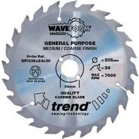 Trend Professional Wood Cutting Saw Blade 184mm 24T 16mm
