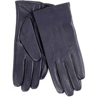 Isotoner Ladies 3 Point Waterproof Leather glove Navy Small