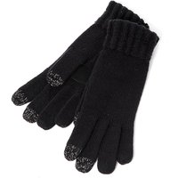 SmarTouch Ladies Chunky Knit 3 Finger Touchscreen Gloves Black One Size