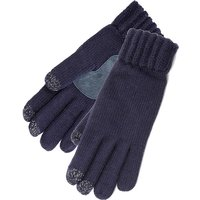 SmarTouch Ladies Chunky Knit 3 Finger Touchscreen Gloves Navy One Size