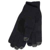 SmarTouch Mens Chunky Knit 3 Finger Touchscreen Gloves Black One Size