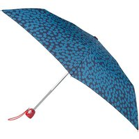 totes Auto Open Close Thin Large Blue Speckle Dot Umbrella  3 Section