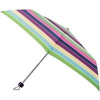 totes Steel Multi Block Stripe Print Umbrella   3 Section