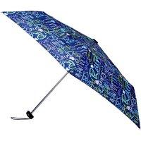 totes Multi Navy Graffiti Miniflat Umbrella   3 Section