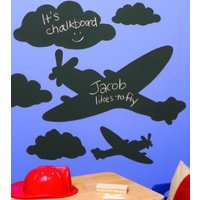 Creative Wall Art Stickers Chalkboard Planes & Clouds, 16012