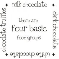 Wall Word Designs Stickers Chocolate - Black, 1026-2