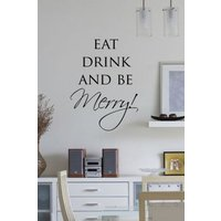 Wall Word Designs Stickers Be Merry - black, 1051-2