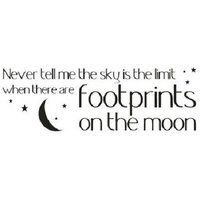 Wall Word Designs Stickers Footprints on the moon - black, 1057-2