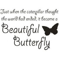 Wall Word Designs Stickers Beautiful Butterfly - black, 1062-2