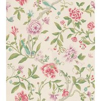 Sanderson Wallpapers Porcelain Garden Magenta/Leaf Green, DCAVPO106