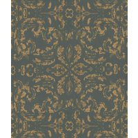 Zoffany Wallpapers Gossamer Charcoal/Gold, ZPEW06001