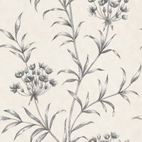 Zoffany Wallpapers Agapanthus Charcoal, ZPAW04003