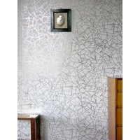 Erica Wakerly Wallpapers Angles Silver White, ANG S/W