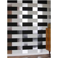 Erica Wakerly Wallpapers Block Black White Silver, BLO B/W/S