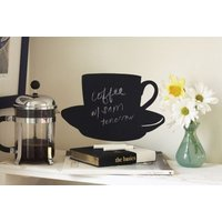 Creative Wall Art Stickers Chalkboard Cup and Saucer, 16023