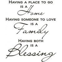 Wall Word Designs Stickers A Blessing - black, 1087-2