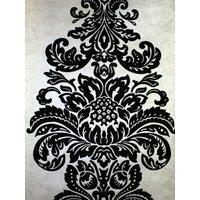 Kandola Wallpapers Damask Flocked Wallpaper crystallised, W1505/02/215