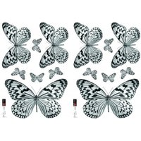 Creative Wall Art Stickers Black and White Butterfly Sticker, 157049
