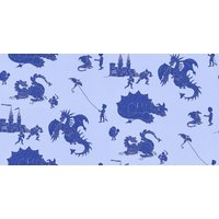 PaperBoy Wallpapers Ere-be-dragons Blue, EBD Blue