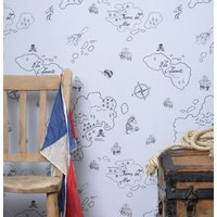 Hibou Home Wallpapers Pirate Seas, HH00202