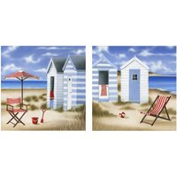 Arthouse Art Deck Chairs set of 2 printed canvases, 002568