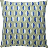 Sanderson Cushions Ellipse Indigo/Linen Cushion, 251817