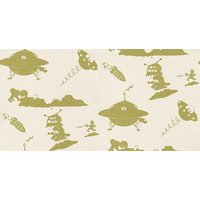 PaperBoy Wallpapers The Final Frontier Cream and Green, TFF/WP/CREAM