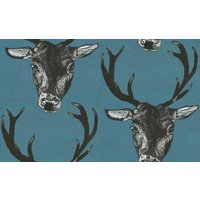 Graduate Collection Wallpapers Stag Head Teal, 26218