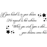 Wall Word Designs Stickers Dreams come true- Black, 1110-2